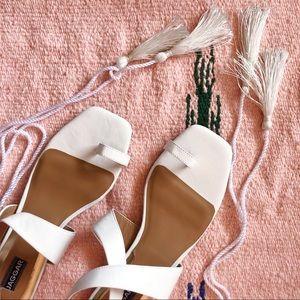 Jaggar Tassel Wrap Sandals